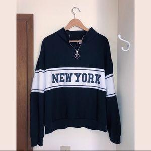 New York Quarter-Zip Sweatshirt H&M